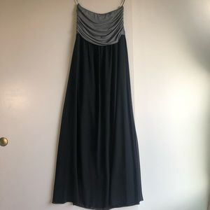 3/$25 SALE Strapless Chiffon Maxi Dress